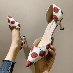 Strawberry High-heel Cute Shoes