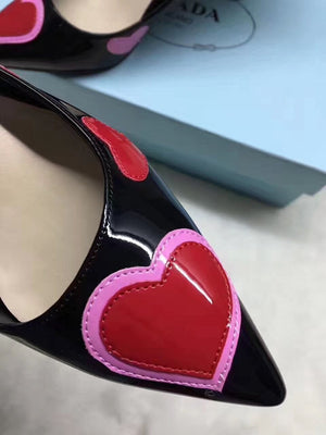 Cute Heart High-heel Shoes