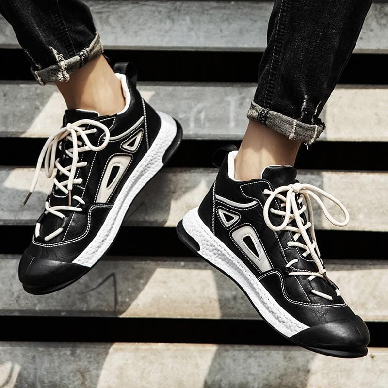Air Cushion Color Blocked Sneakers