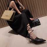 Fashion Strap Pointed Toe High Heels