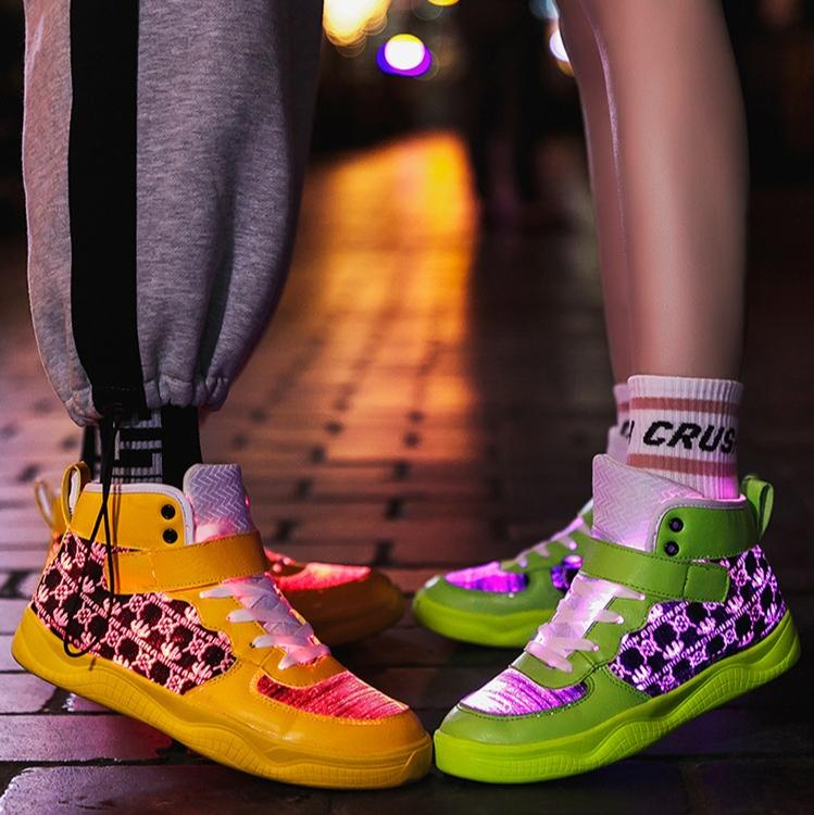 Luminous High-tops Sneakers【size 5-14】