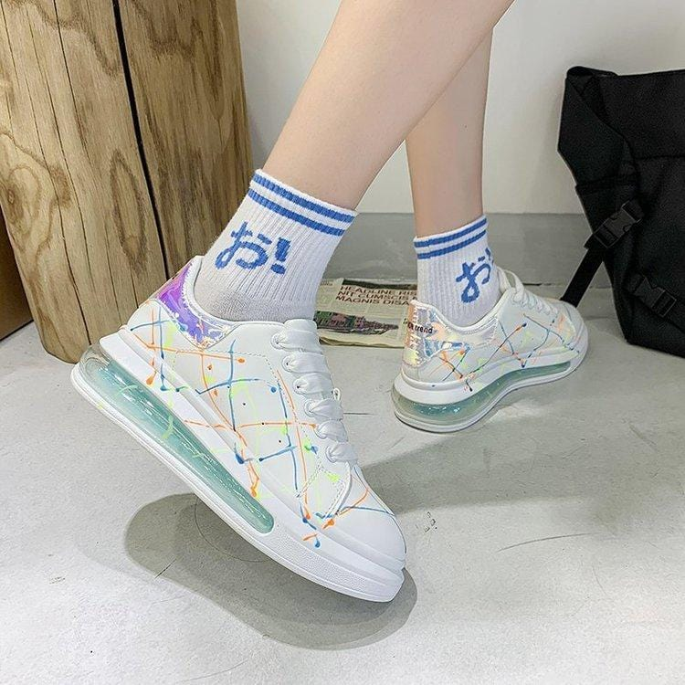 Graffiti Luminous Casual Sneakers【size 5-14】