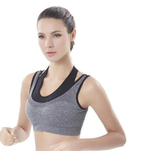 Comfy Faux-two Detachable Sports Bra