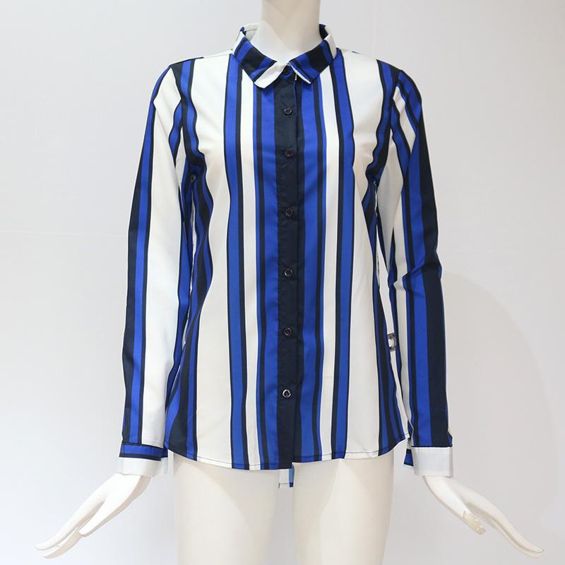 Casual Long Sleeve Striped Shirt