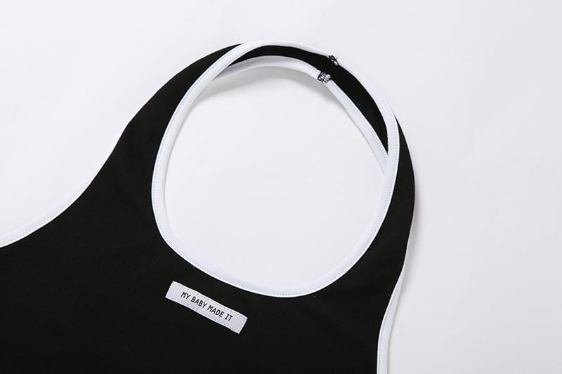 Backless Halter Fashion Sports Crop Tops