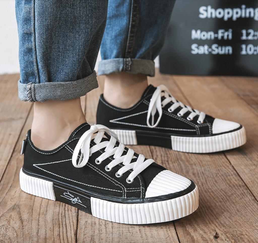 Canvas Low-cut/High-top Casual Flat Shoes【size 5-13】