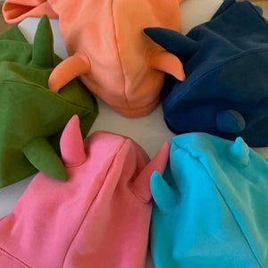 Cute Cartoon Horns Candy Color Loose Hoodies
