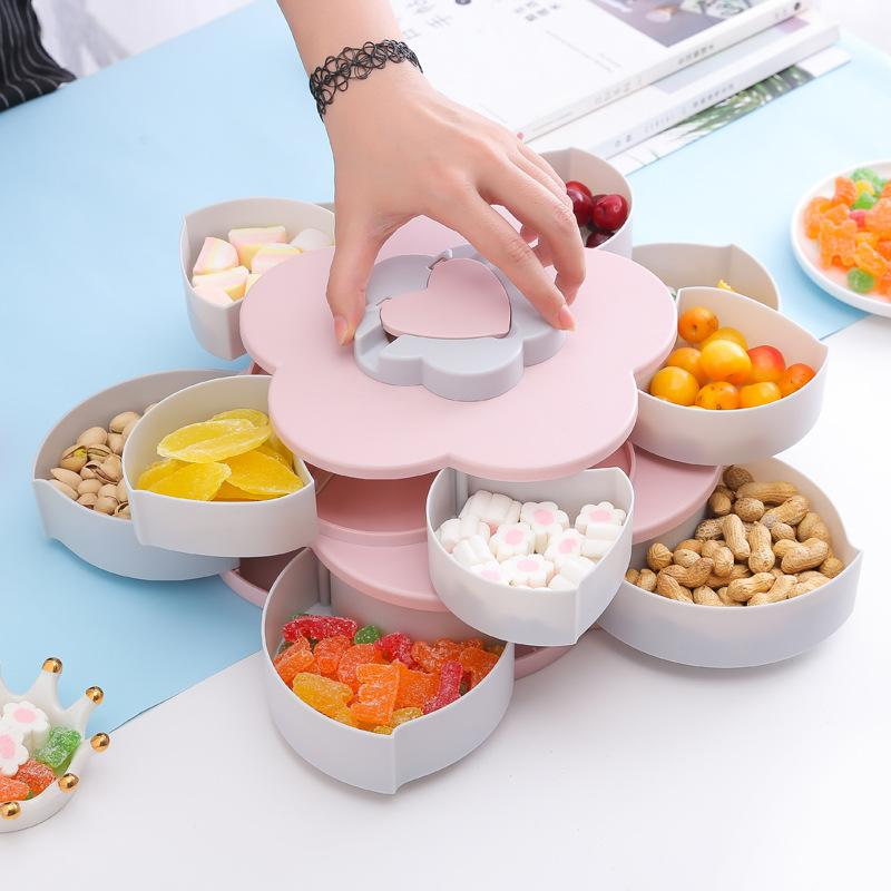 Double Layer Rotating Petal Design Snacks Compote