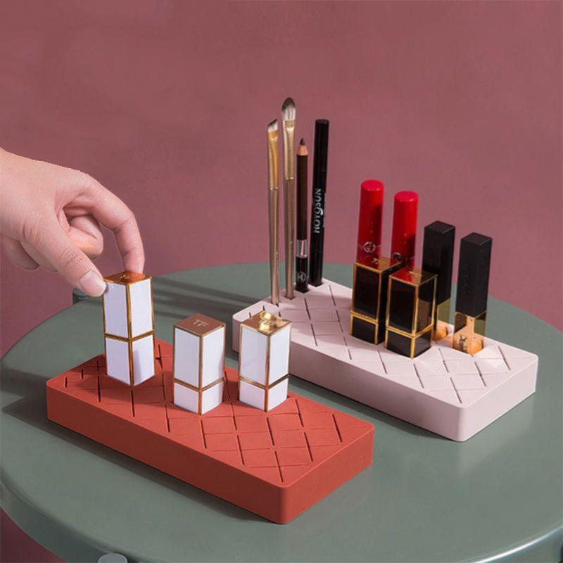 Silicon Lipstick Brush Storage Box