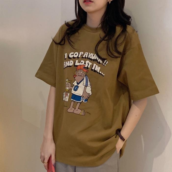 Cartoon Print Short-sleeve Tee