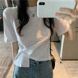 Irregular Design Short Sleeves T Shirt