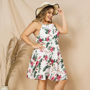 Chic Floral Backless Dress