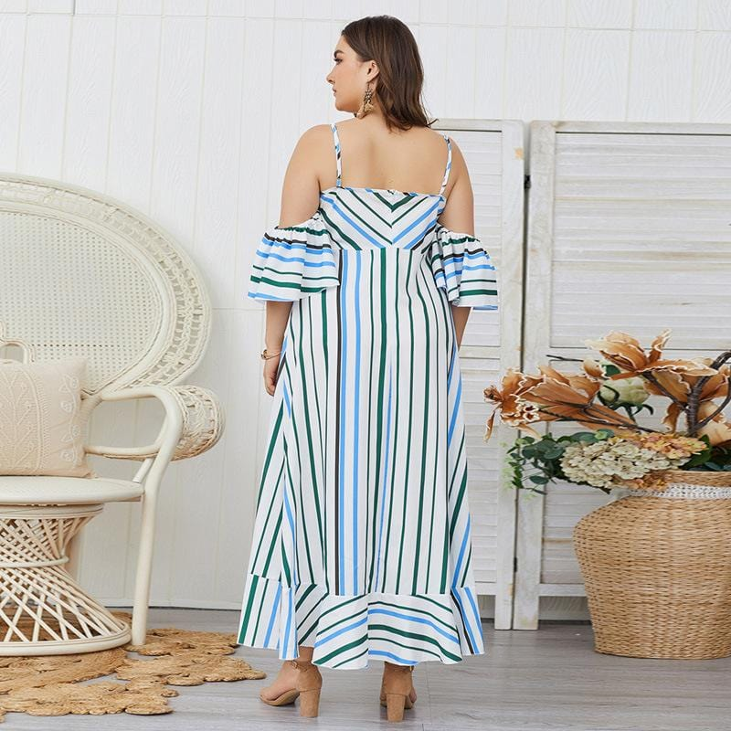 Fashion Stripe Strap Dress