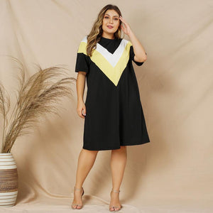 Color Blocked Tee Dress