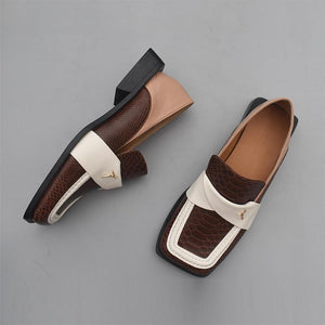 Fashion Retro Square Toe Flats