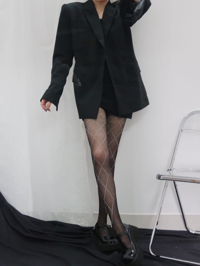 2pcs pretty pearls decor tights