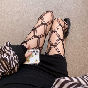 2pcs cross hollow out tights