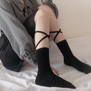 2pcs cotton mid-socks