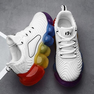 Cute Flying Knit Colorful Jelly Sneakers【size 5-9】
