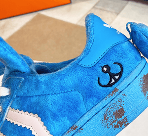 Cute Fur Rabbit Removable Ears Sneakers【size 5-9】