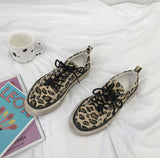 Leopard Print Canvas Casual Espadrilles Shoes【size 5-10】