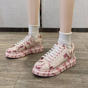 Graffiti Casual Lace-up Shoes【size 5-9】