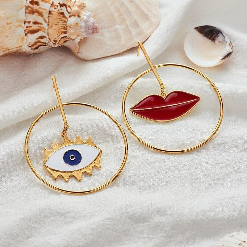 Fashion Design Street Style Big Round Earrings