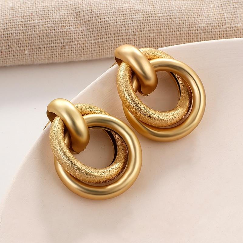 New Fashion Gold Color Metal Drop Earrings