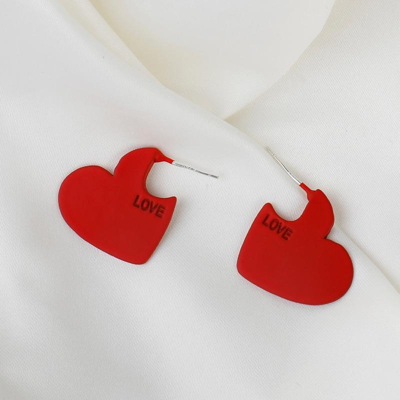 Vintage Heart Shape Cute Earrings