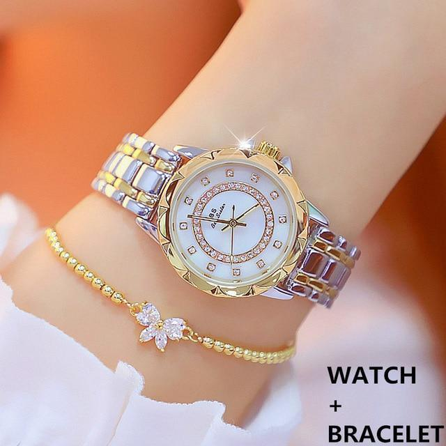 Luxury rhinestone elegant ladies watch