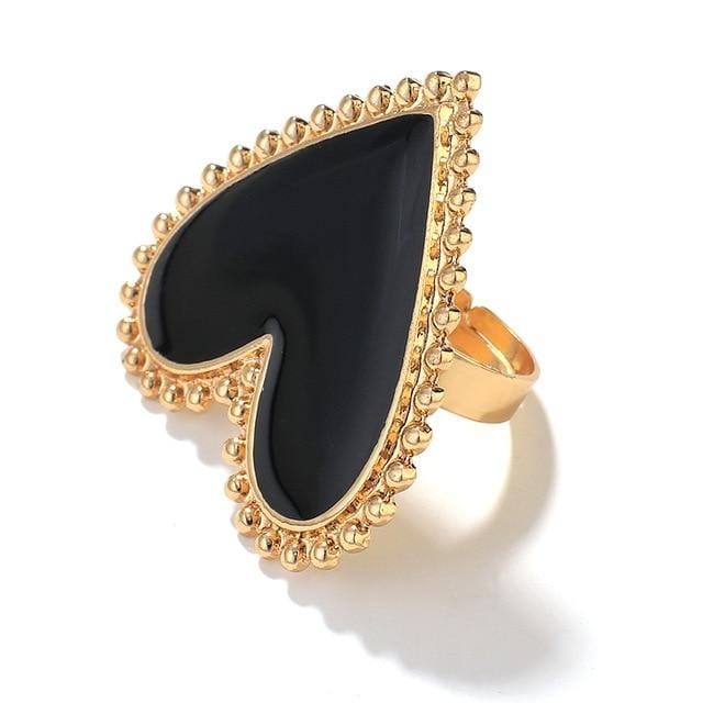 Bohemian Heart Gold Clor Rings For Women