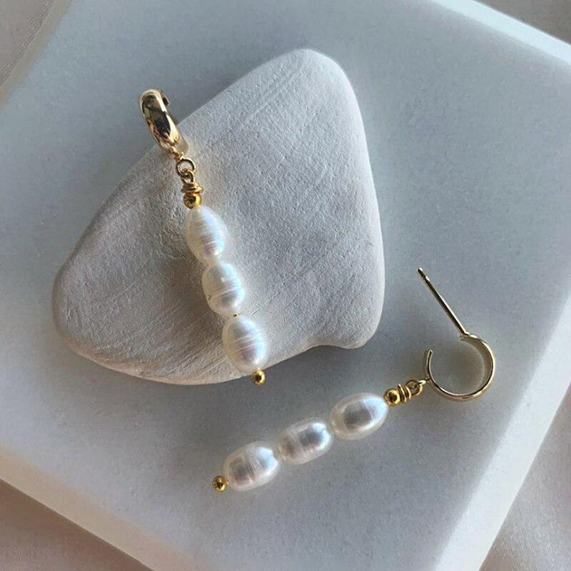 Trendy Simulation Pearl Long Earrings