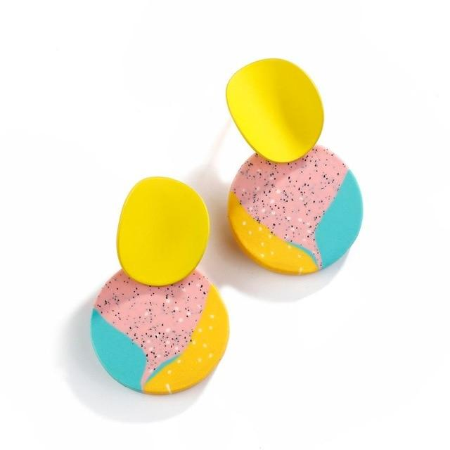 Polymer Clay Colorful Drop Earrings