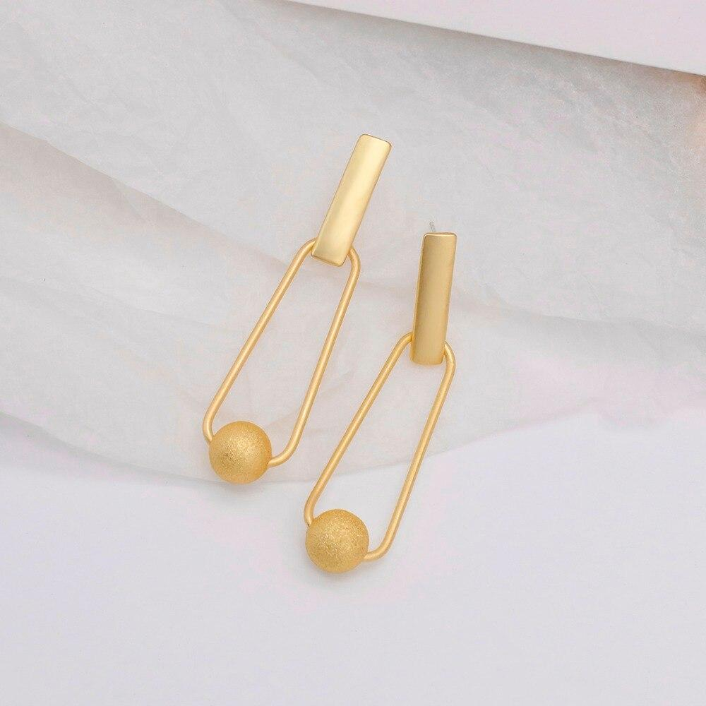 New Retro Gold Color Long Hanging Earrings