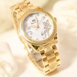 Rhinestone diamond waterproof ladies watch