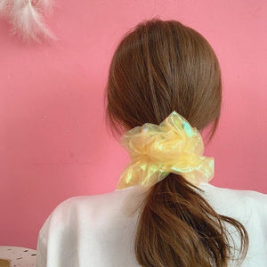 Gauze Hair Scrunchie Elastic Hair Bands