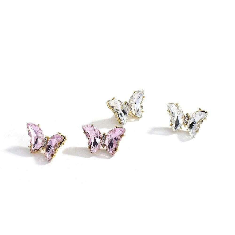 Fashion Cute Butterfly Resin Stud Earrings