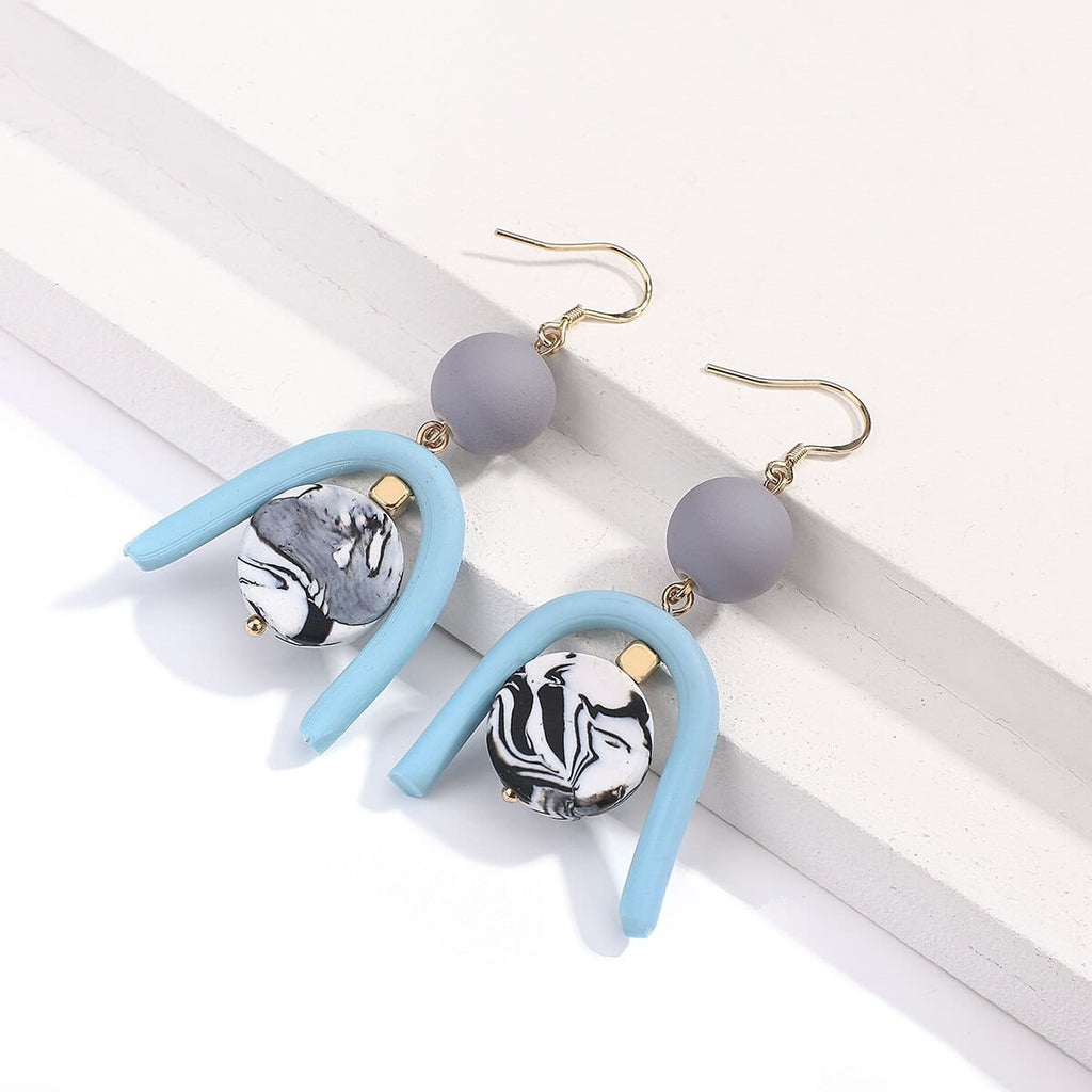 Handmade Polymer Clay Geometric Irregular Earrings