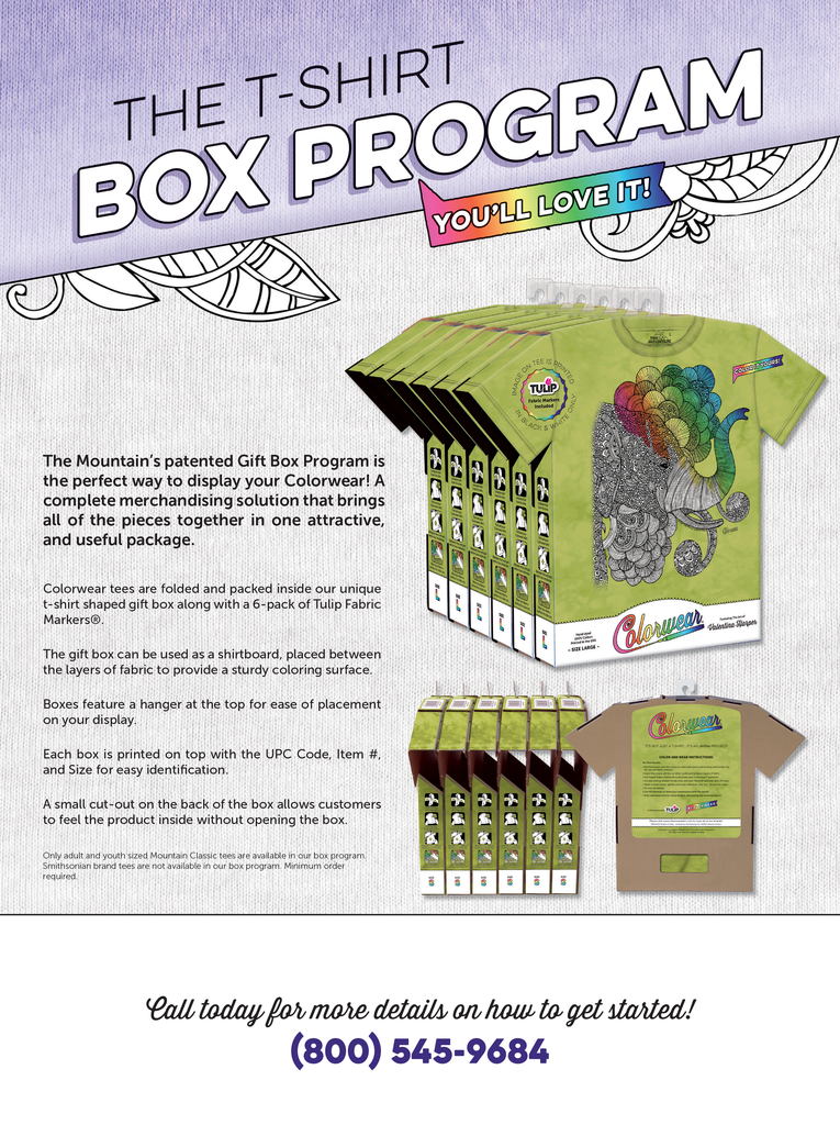 Colorwear Display Options - The Box Program
