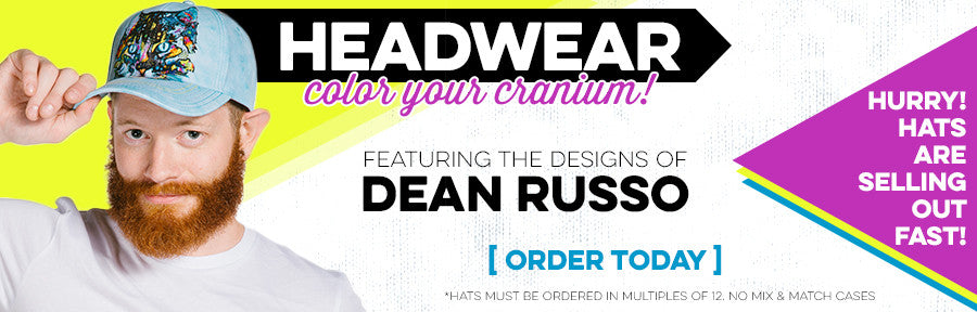 Headwear by The Mountain - Wholesale Hats featuring the art of Dean Russo