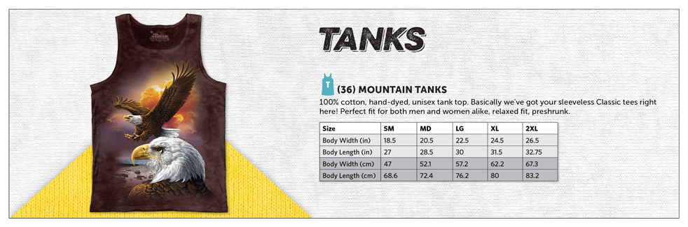 Tank Tops Sizing Chart