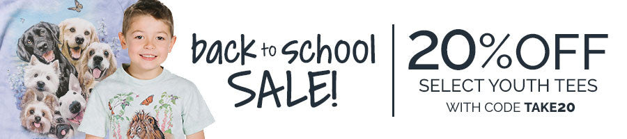 20% Off Select Youth Tees During Our Back to School Sale