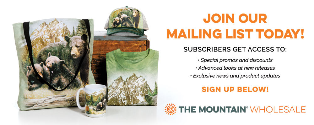 Sign up for The Mountain Wholesale Mailing List