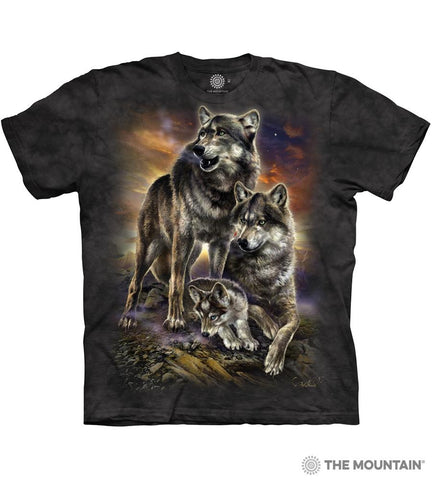 6282 Wolf Family Sunrise T-Shirt