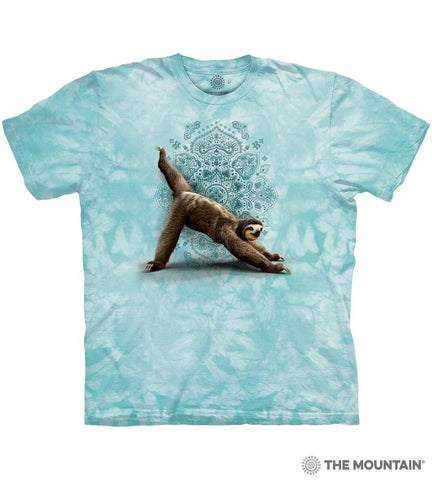 6481 Green Three Legged Downward Sloth T-Shirt