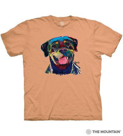 6487 Happy Rottweiler T-Shirt