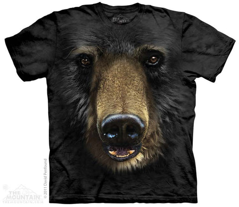 153245 Black Bear Face Youth T-Shirt