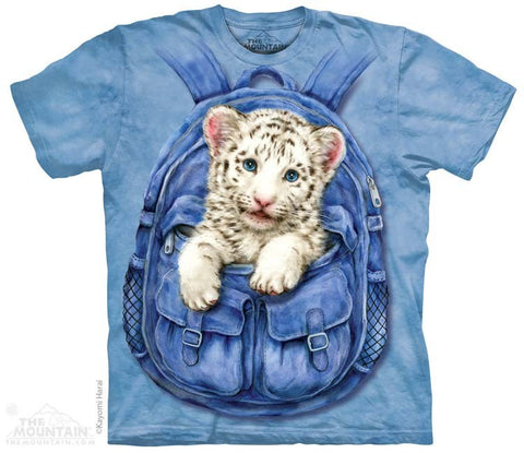 3433 Backpack White Tiger Youth T-Shirt