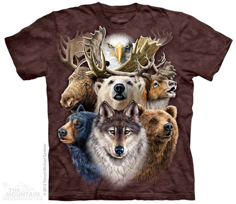 153480 Northern Wildlife Collage Youth T-Shirt
