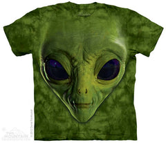 3499 Green Alien Face